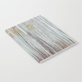 White Birch Tree Winter Forest Notebook