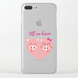 Love Pigs Clear iPhone Case