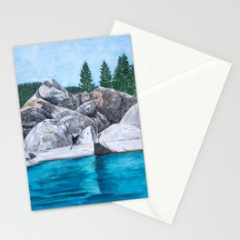 Lake Tahoe Trees and Boulders Stationery Cards