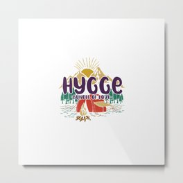 Hygge - Bundle of Love Metal Print