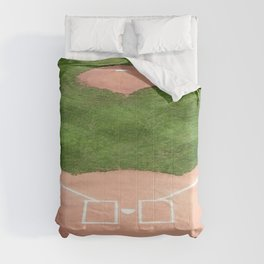 Baseball field Comforters