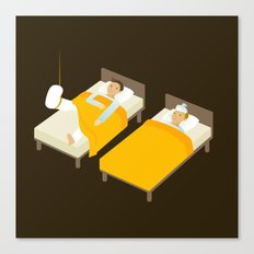 Sick In Bed Canvas Print