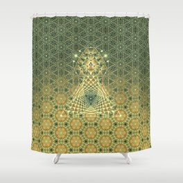 Lifeforms | Ancient geometry Shower Curtain