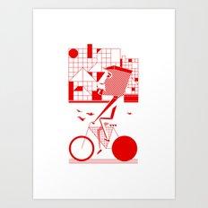 Bicycle I. Art Print