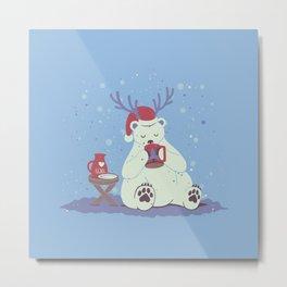 Polar Xmas Eggnog Metal Print