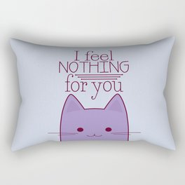 How your cat really feels about you Rectangular Pillow
