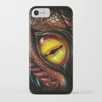 smaug iPhone & iPod Cases featuring Smaug eye by Artwork by Alex