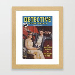 Detective Fiction Weekly - October 2nd 1937 Framed Art Print
