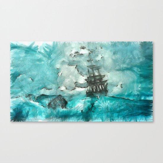 ship 2 Canvas Print