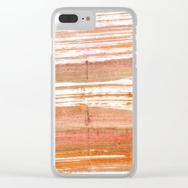 Antique brass abstract watercolor Clear iPhone Case