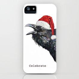 Holiday Santa Crow iPhone Case