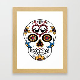 Mexican Sugar Skull Framed Art Print