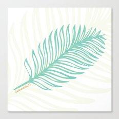 Jacksonville, Florida Palm Leaf Canvas Print