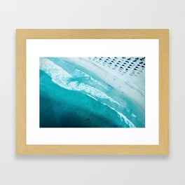 Dubai coastline #society6 #decor #buyart #homedecor Framed Art Print