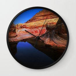Paria Canyons' Rain-Made Pond With Majestic Reflections Wall Clock