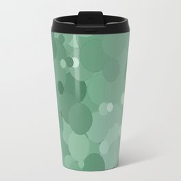 Grayed Jade Bubble Dot Color Accent  Travel Mug