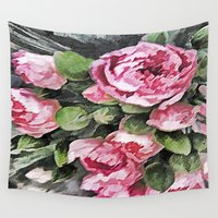 botanical Wall Tapestries featuring Botanical Beauty by lillianhibiscus