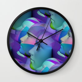 feeling blue together Wall Clock
