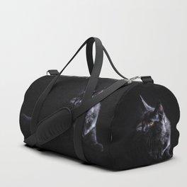 Black Maine Coon Cat Duffle Bag