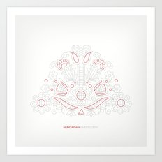 Hungarian Embroidery no.14 Art Print