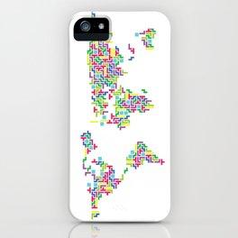 Tetris world (white one) iPhone Case