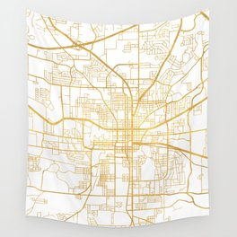 TALLAHASSEE FLORIDA CITY STREET MAP ART Wall Tapestry