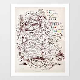 Make a name for yourself Art Print