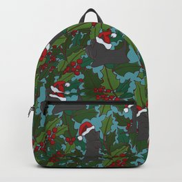 Christmas Dog Pattern Backpack