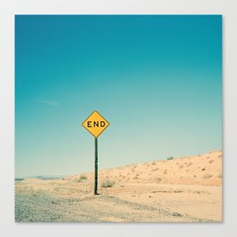 END Road Sign Canvas Print