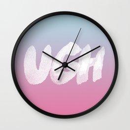 UGH 90s pop bubblegum pink snocone blue Wall Clock