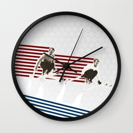 Race you to the Bottom Wall Clock