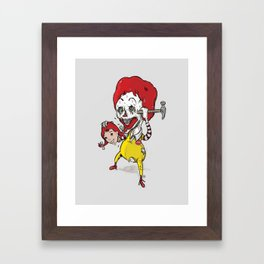 I'm luvin' it Framed Art Print