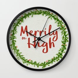Merrily on High Wall Clock