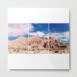 Into the Desert and up the Mountains Metal Print