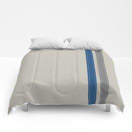Blue & Grey Stripe Comforters