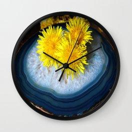 Copper Crystal Dandelions Wall Clock