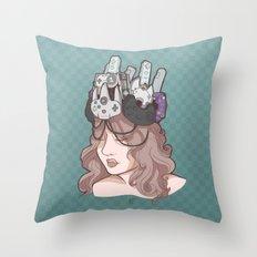 The Gamer Queen Throw Pillow