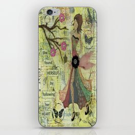 She Found Herself by Following Her Heart iPhone Skin