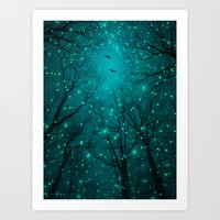 stars Art Prints featuring One by One, the Infinite Stars Blossomed by soaring anchor designs