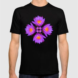 Purple Lily Flower - On White T-shirt