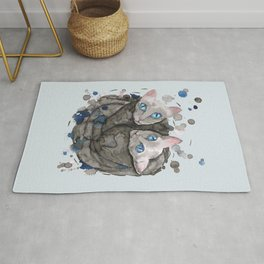 Two gray cat sisters Rug