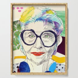 Iris Apfel Fanart Serving Tray