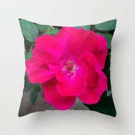 Single Bloom Throw Pillow