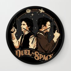 Duel in Space Wall Clock