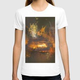 Exploding vibrant sunset T-shirt