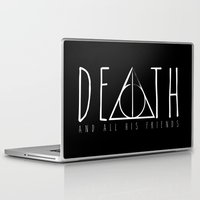 deathly hallows Laptop & iPad Skins featuring Deathly Hallows by Taste of Ink Designs