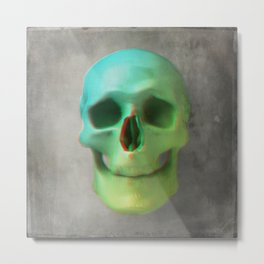 Anaglyph // Skull Metal Print
