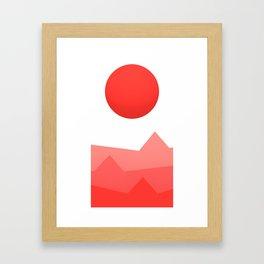 Rising Red Framed Art Print