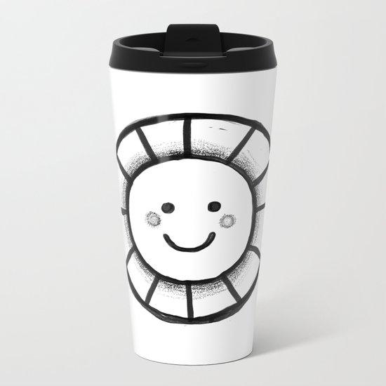 Sunny time smiley face Metal Travel Mug