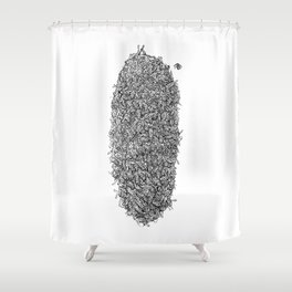 Bee Hive Shower Curtain